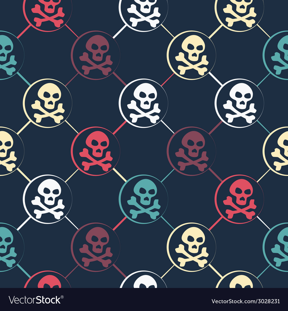 Colored Skull Pattern