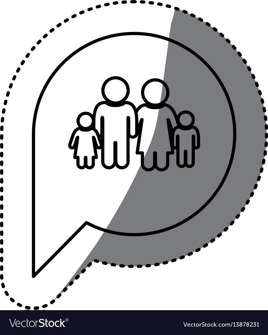 Figure family inside chat bubble