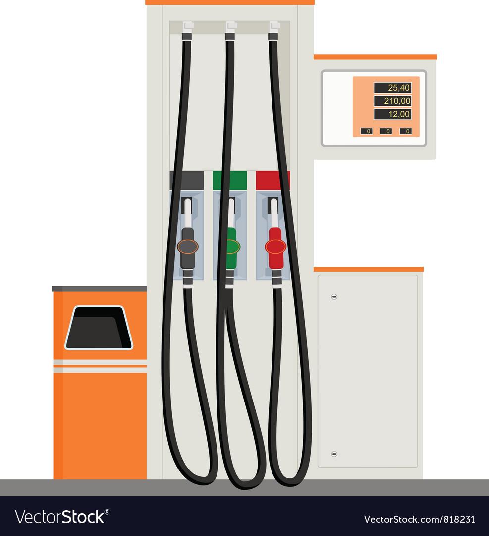 Modern Gas Pump vector image