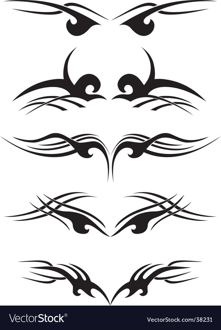 Tribal Tattoo Samples Vector