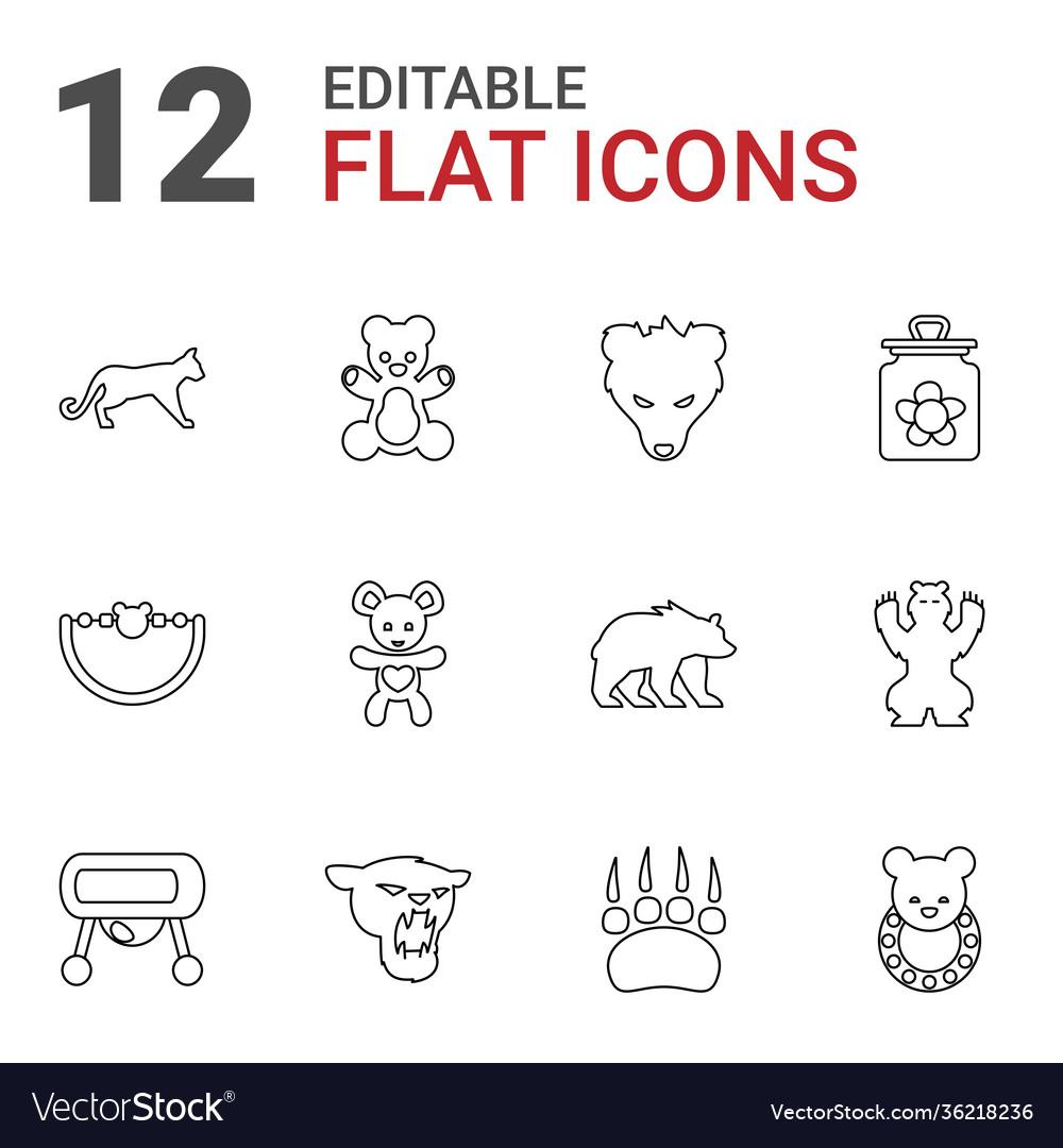 12 bear icons