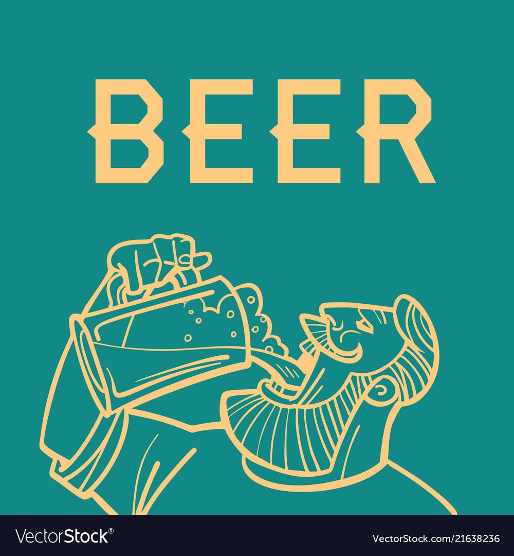 Beer man drinks logo