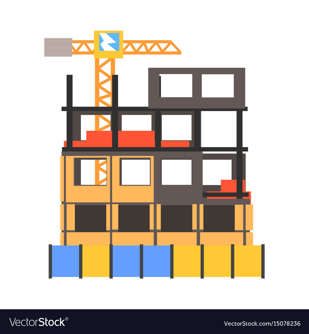 Construction process vector image