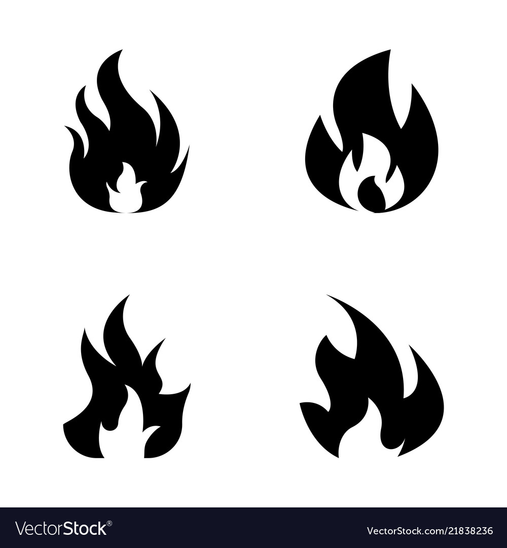 Fire solid icons