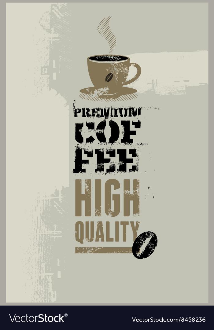 Premium coffee grunge retro background