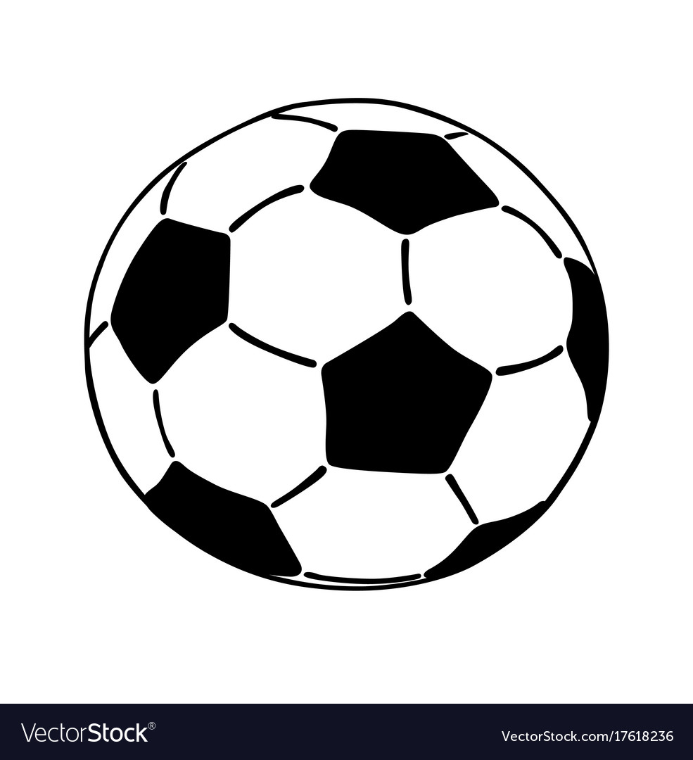 Soccer ball icon isolated on white background vector image