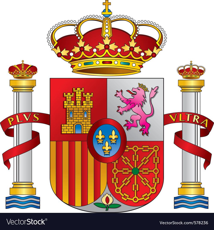 Spain royal emblem vector image