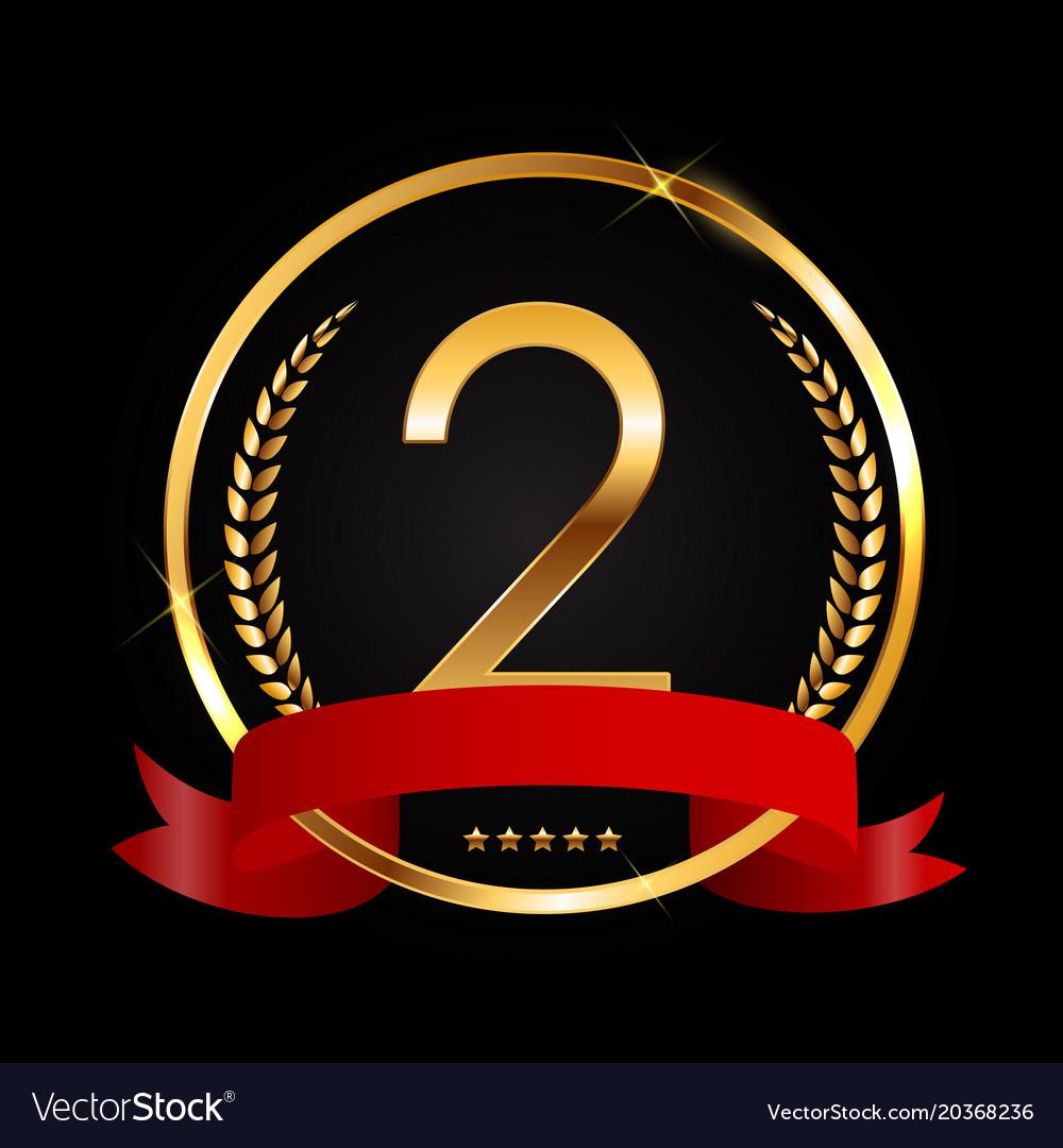 Template logo 2 years anniversary vector image