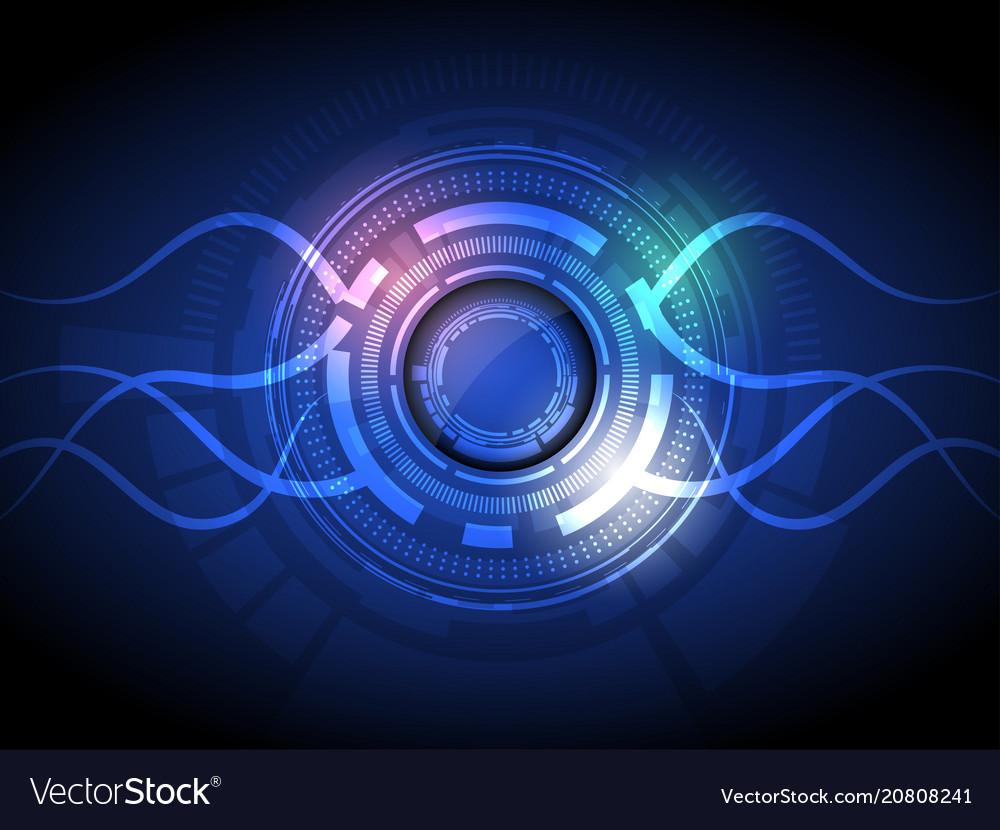 Abstract hi-tech energy interface button vector image