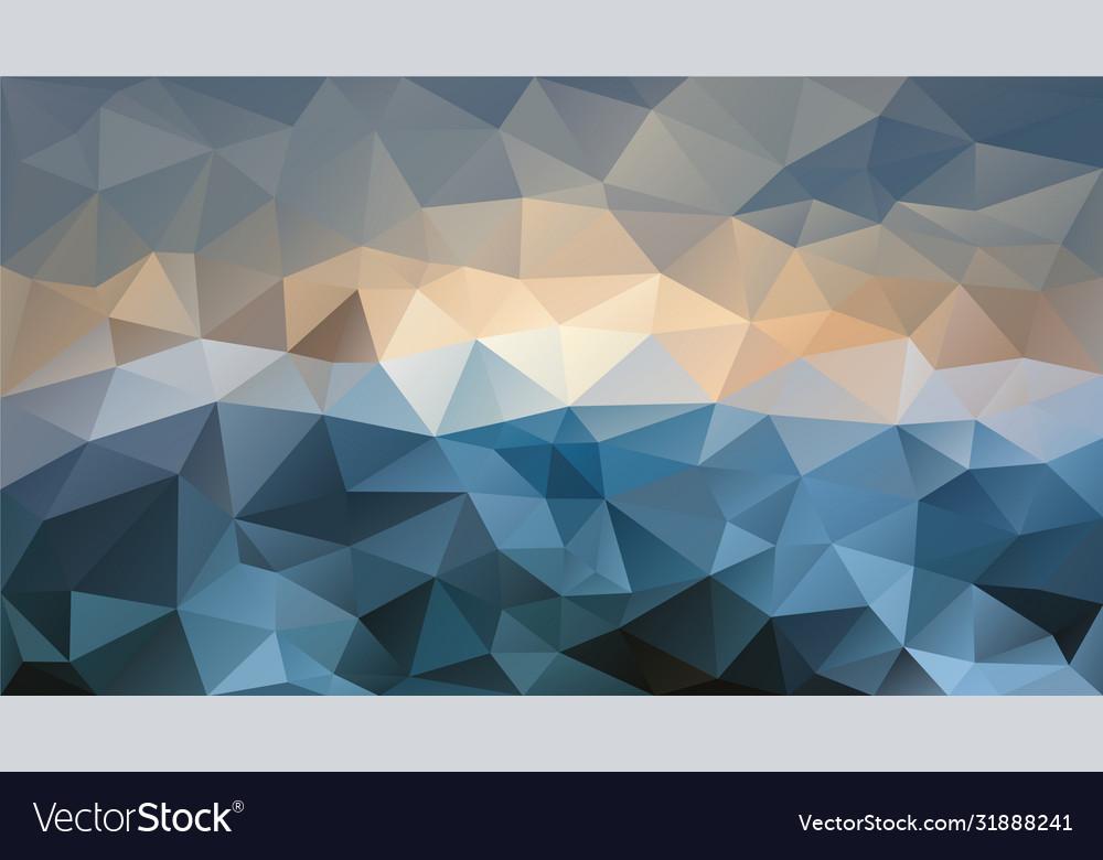 Abstract irregular polygon background blue beige