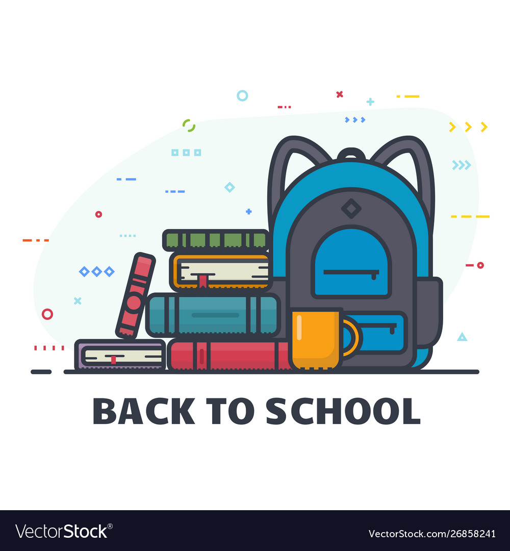 Back to school line banner