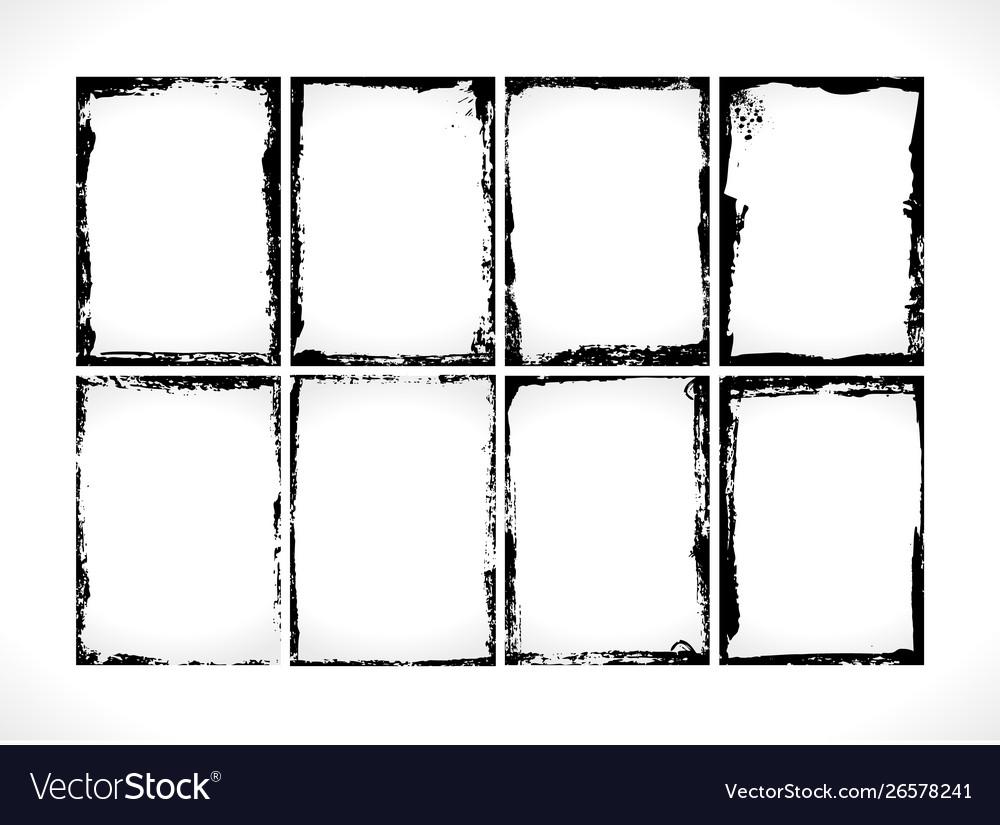 Grunge textured frames collection design template