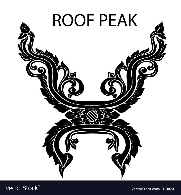 Peak of thai or asia roof