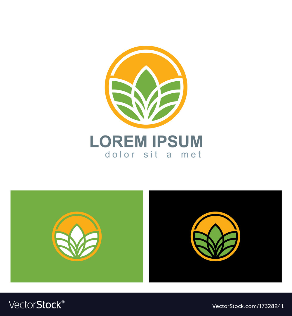 Plant agriculture round logo