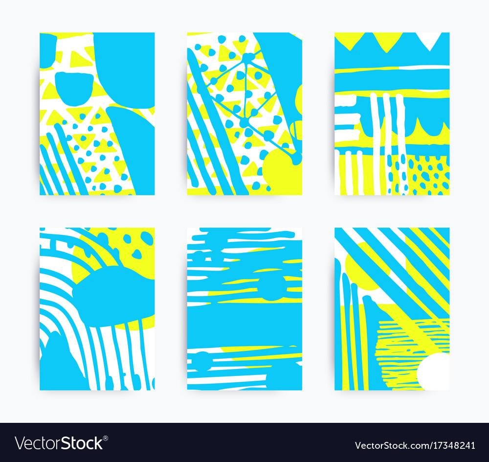 Set of decorative handmade backgrounds