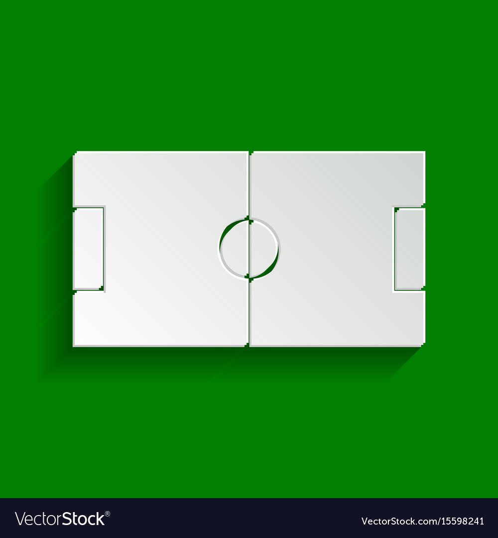 Soccer field paper whitish icon with soft