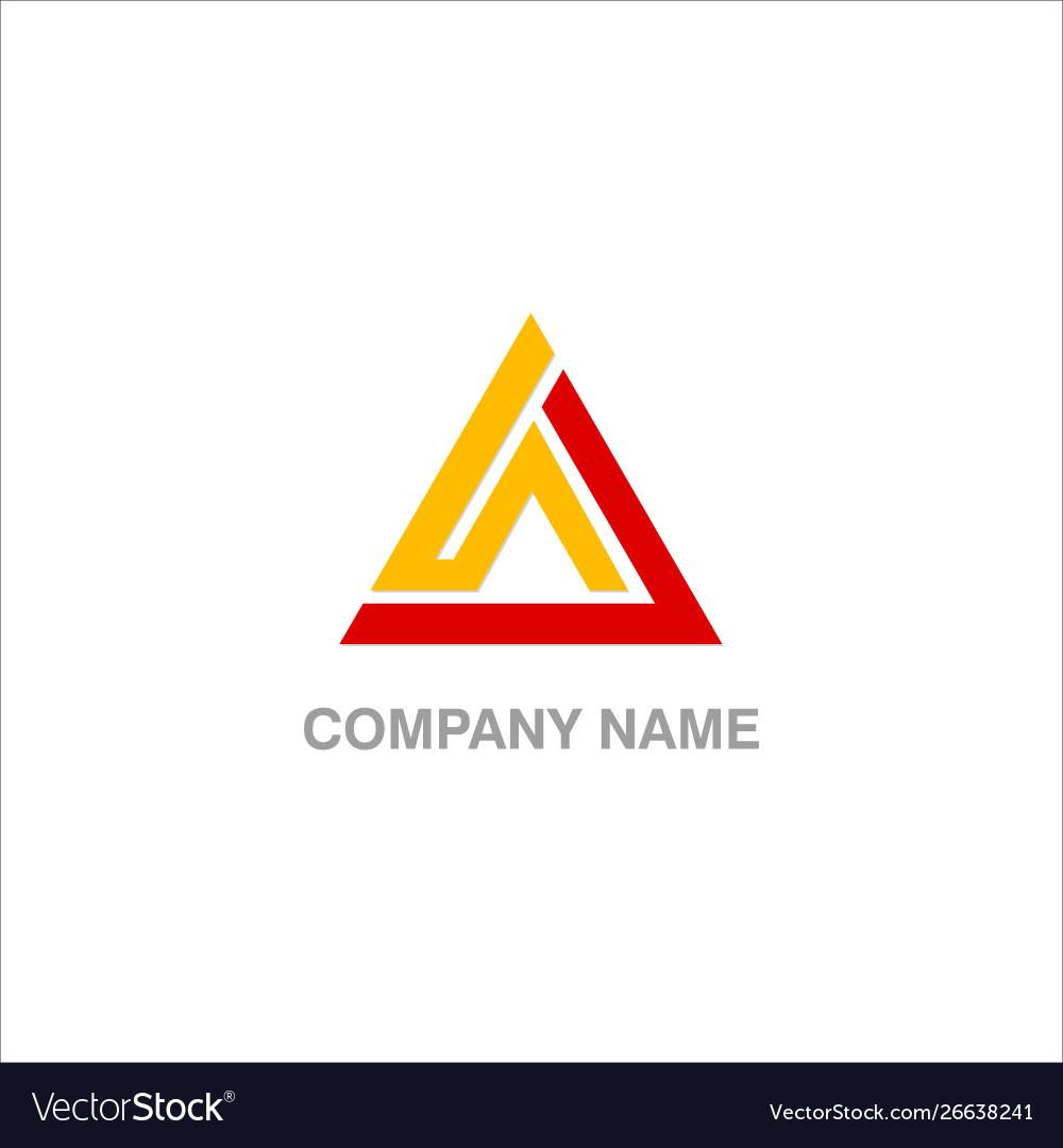 Triangle design company logo