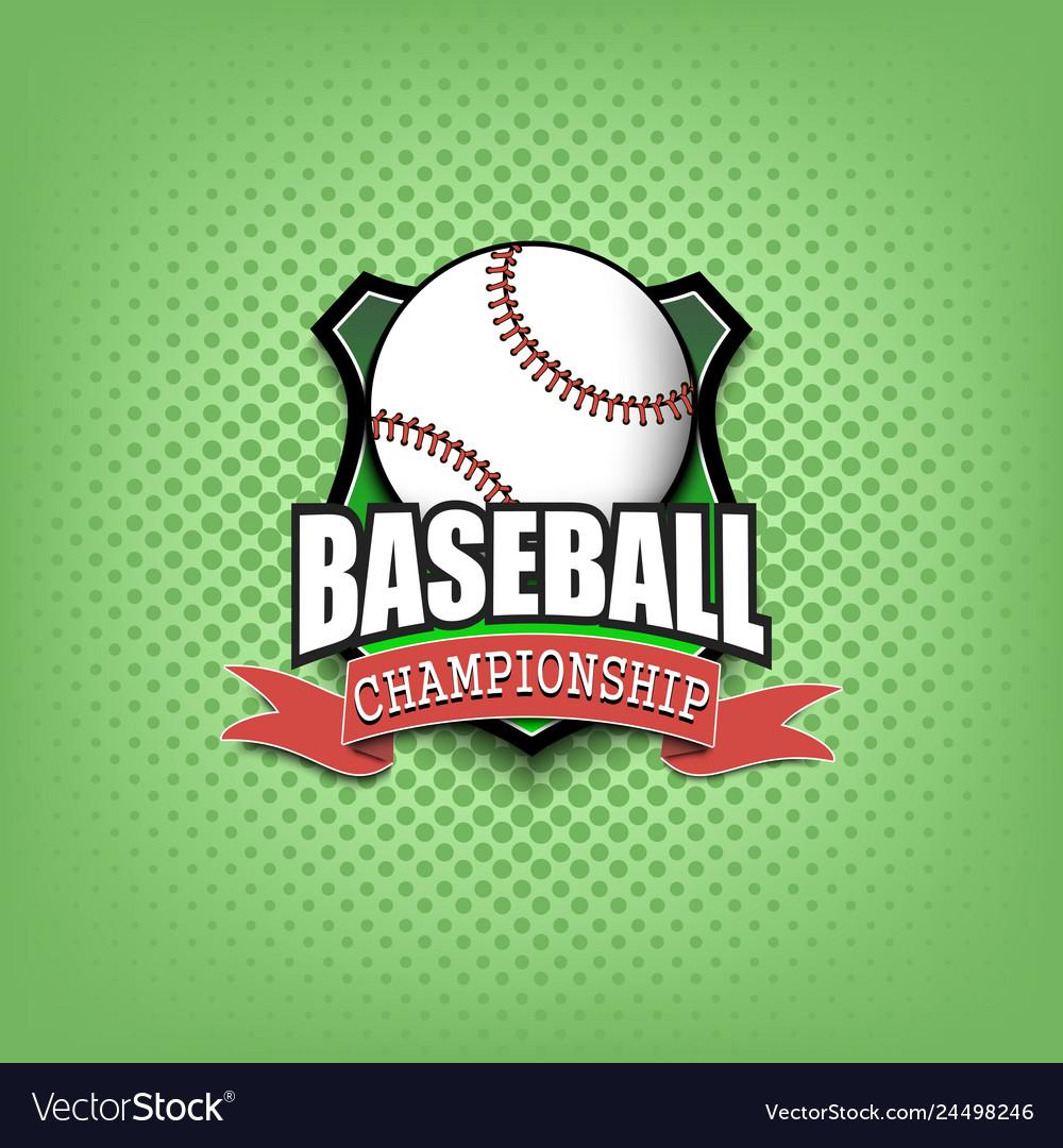 Baseball logo template design