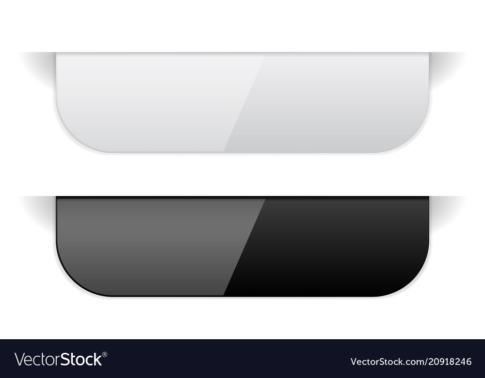 Black and white sticker labels with transparent