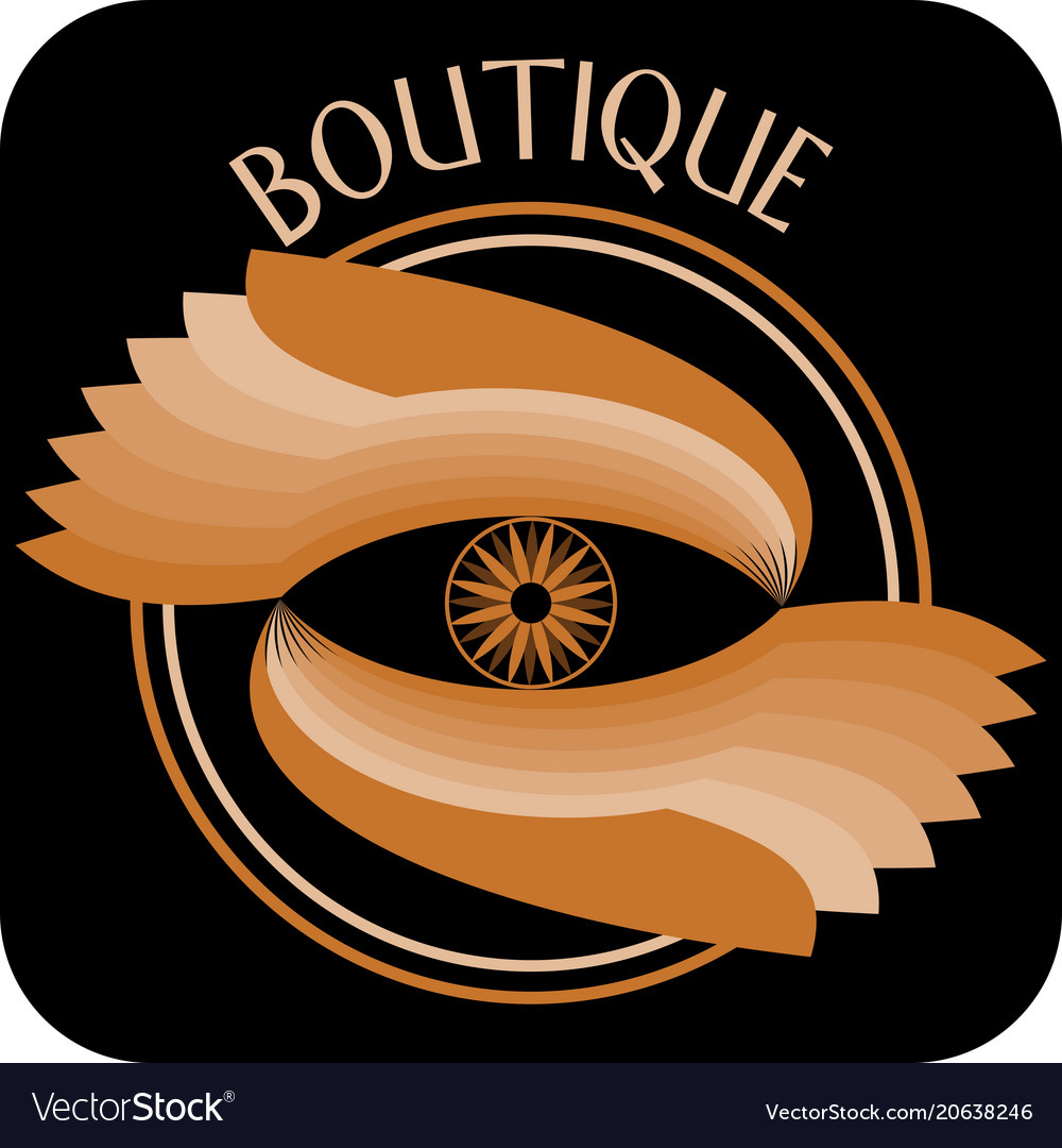 Boutique signboard composed as circle with two