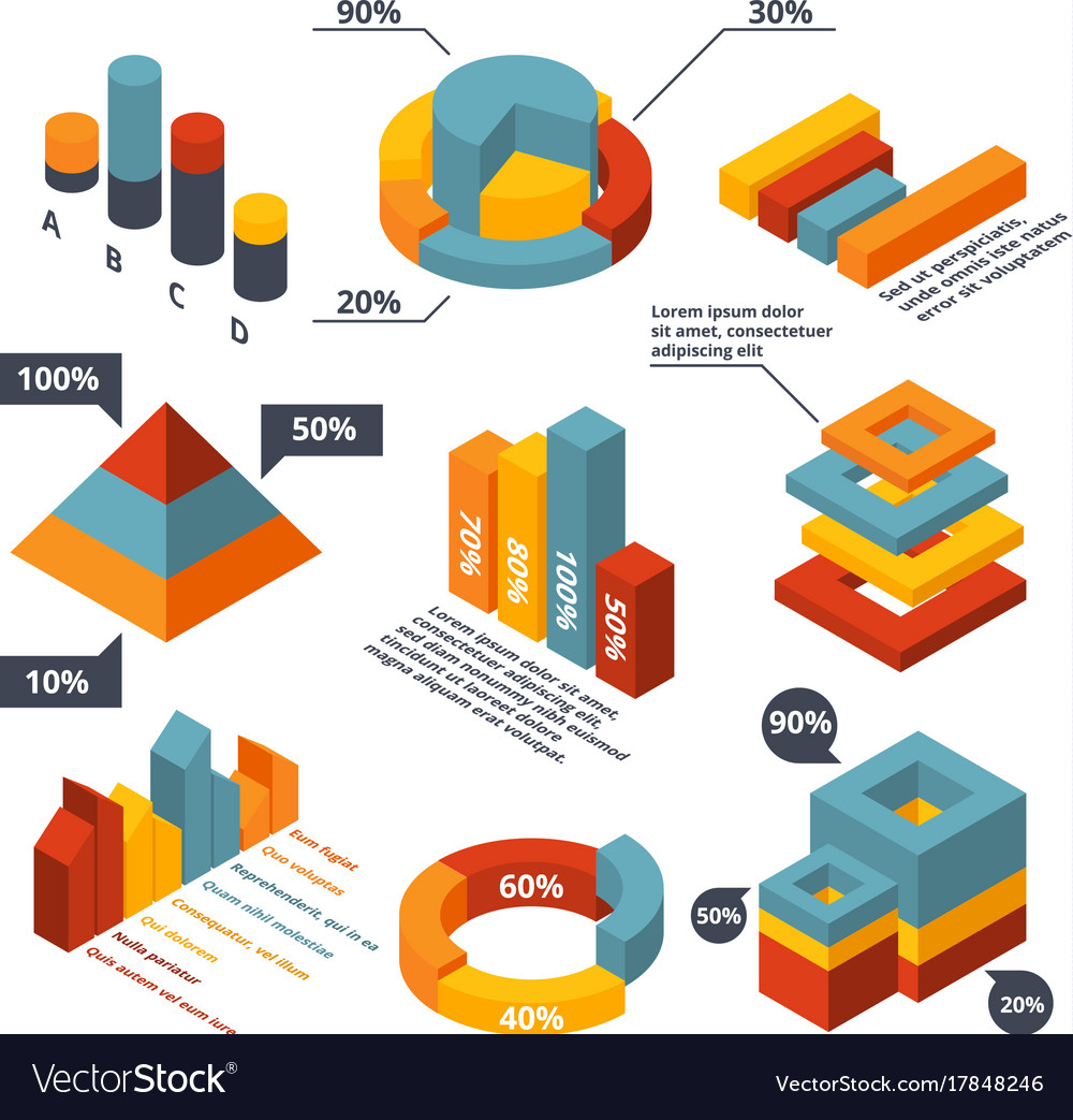 Different isometric elements for business