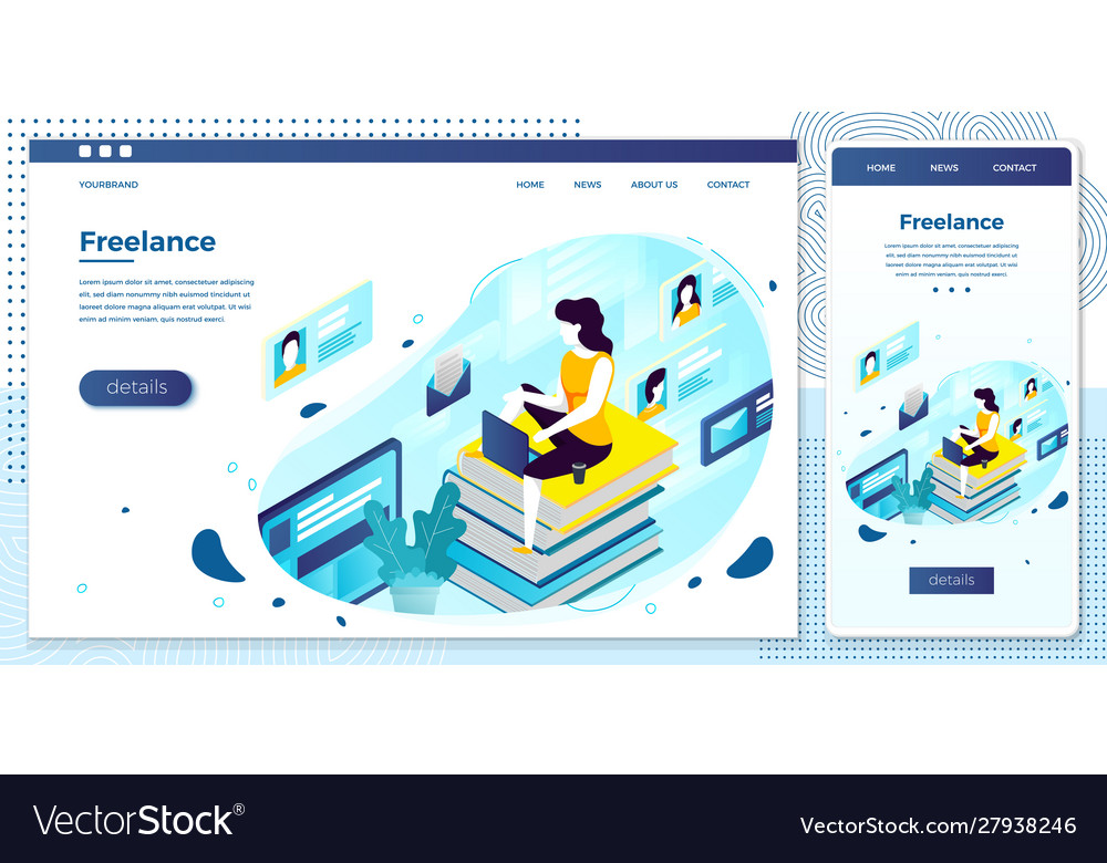 Freelancer girl with notebook work at home