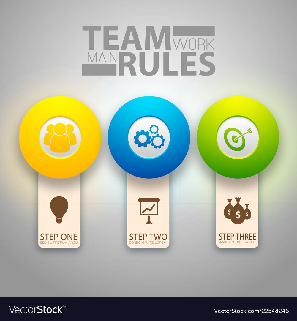 Infographic teamwork template