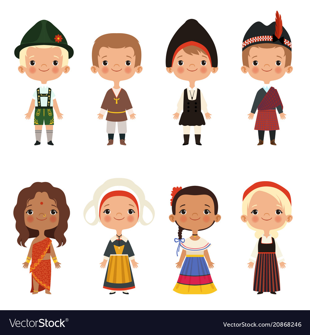 Kids of different nationalities