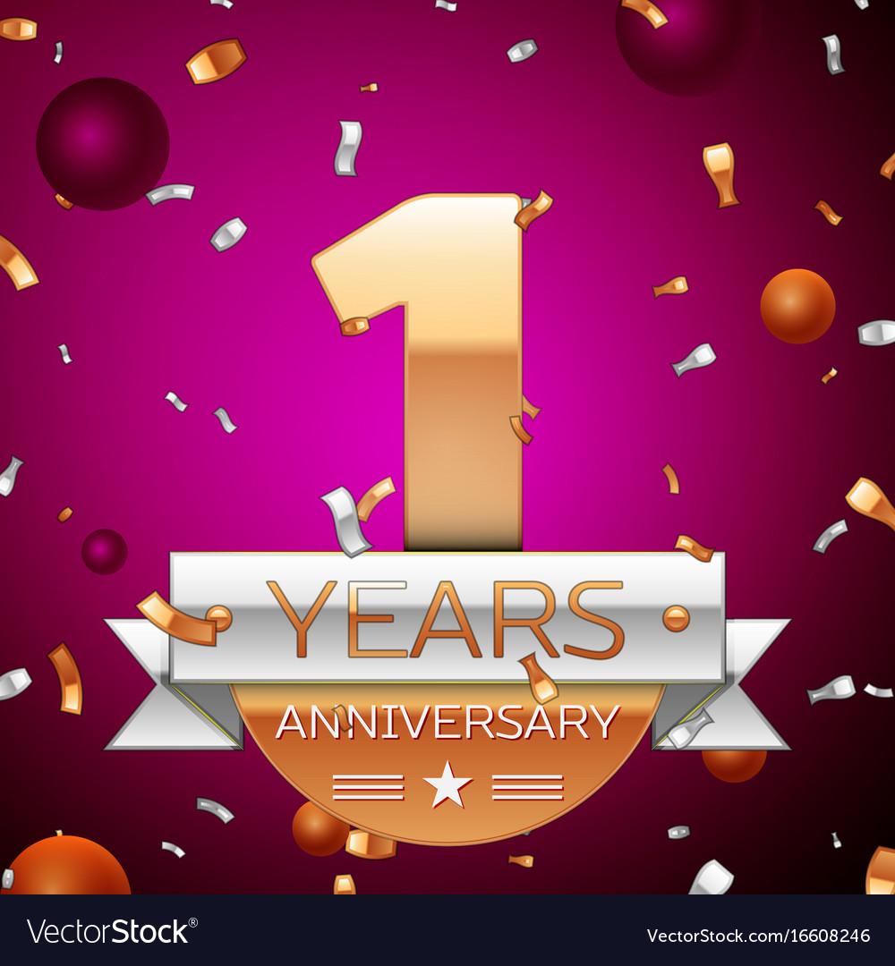 One years anniversary celebration design
