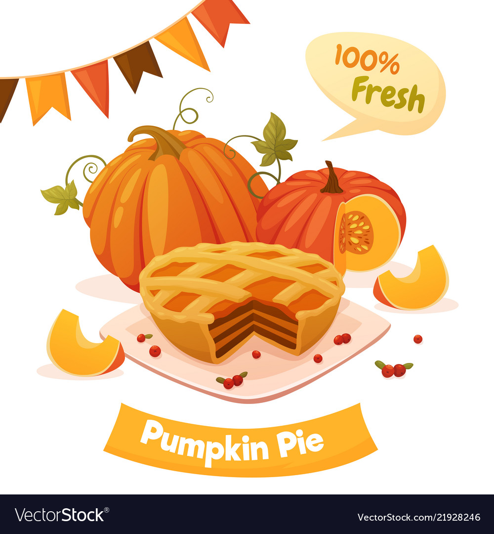 Pumpkin pie card