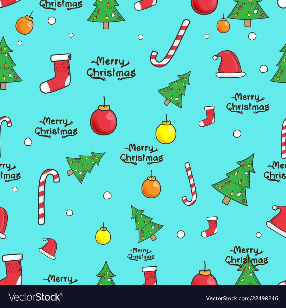 Seamless christmas elements pattern