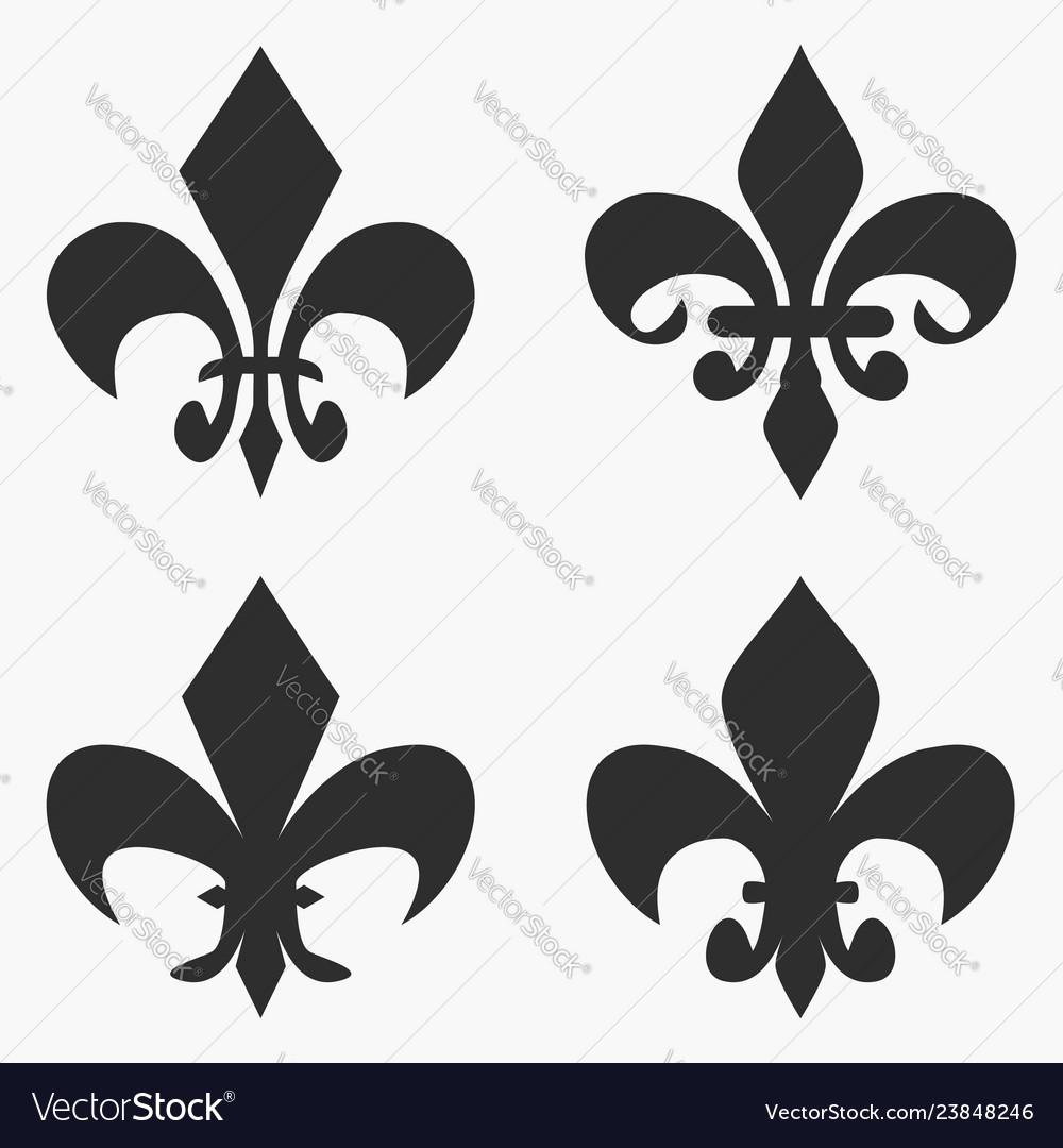 Set of fleur de lis symbol