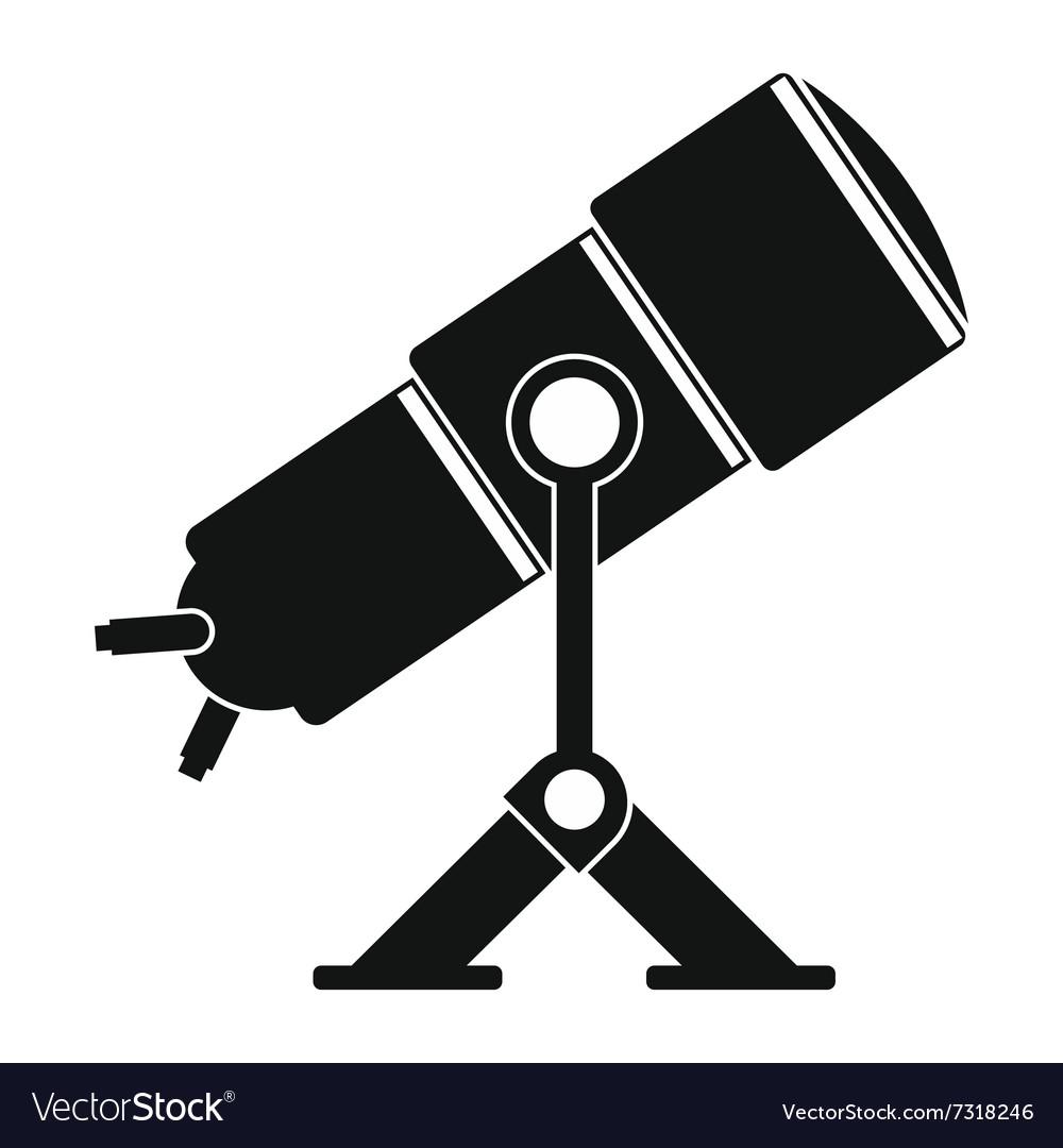 Telescope black simple icon vector image