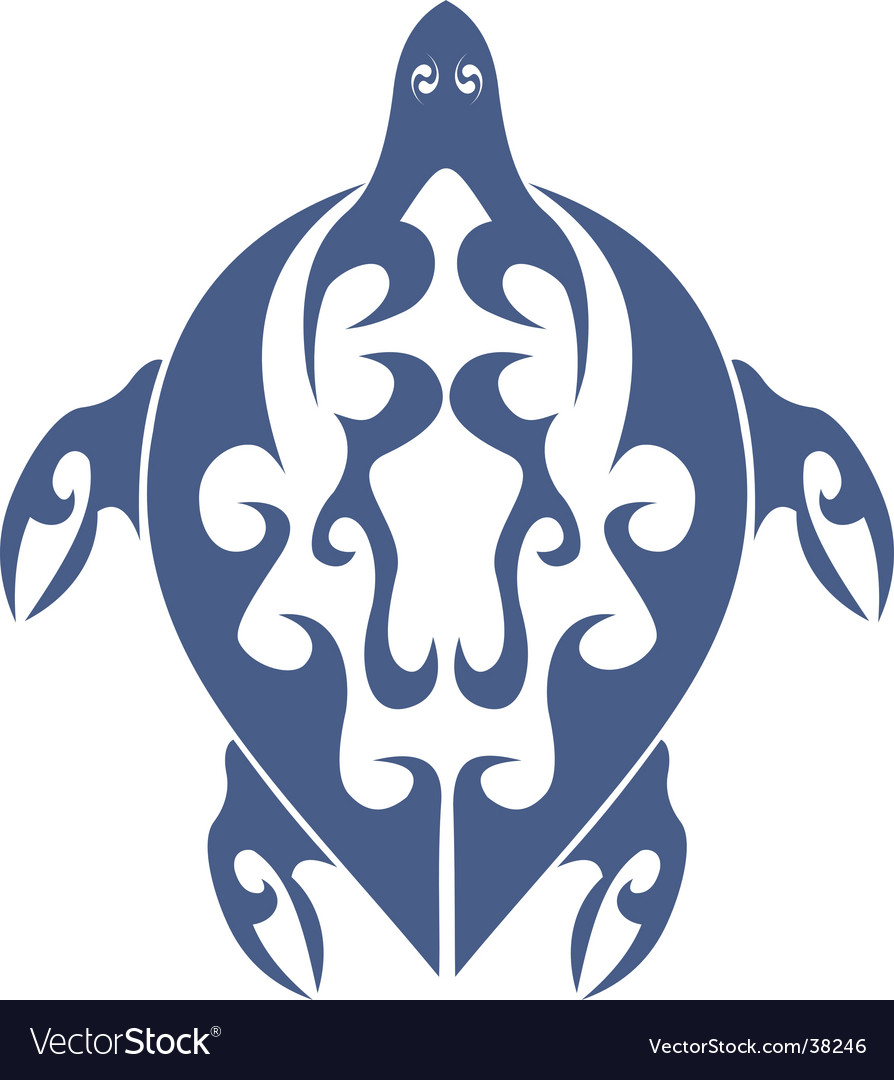 Tribal Turtle Tattoo Royalty Free Vector Image