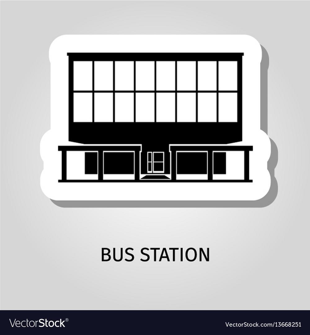 Bus station building web sticker
