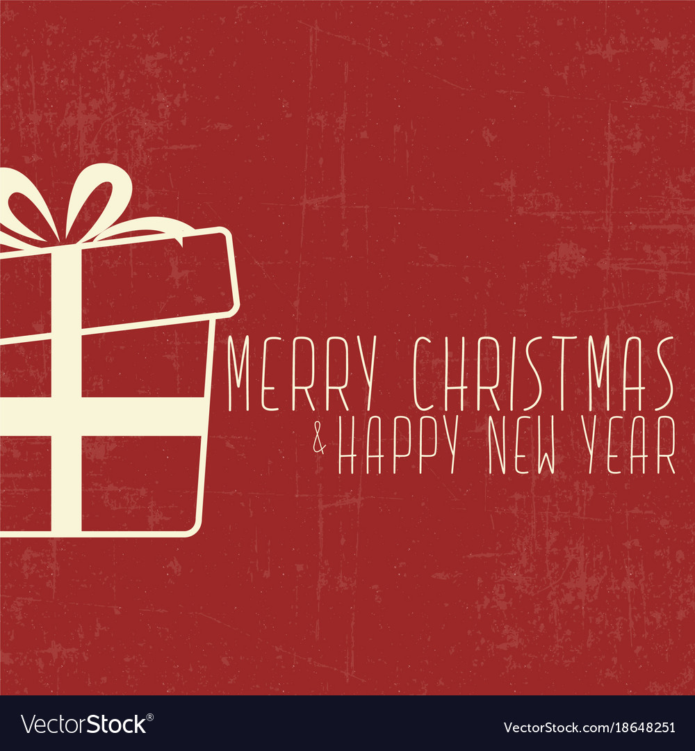 Christmas and new year present card