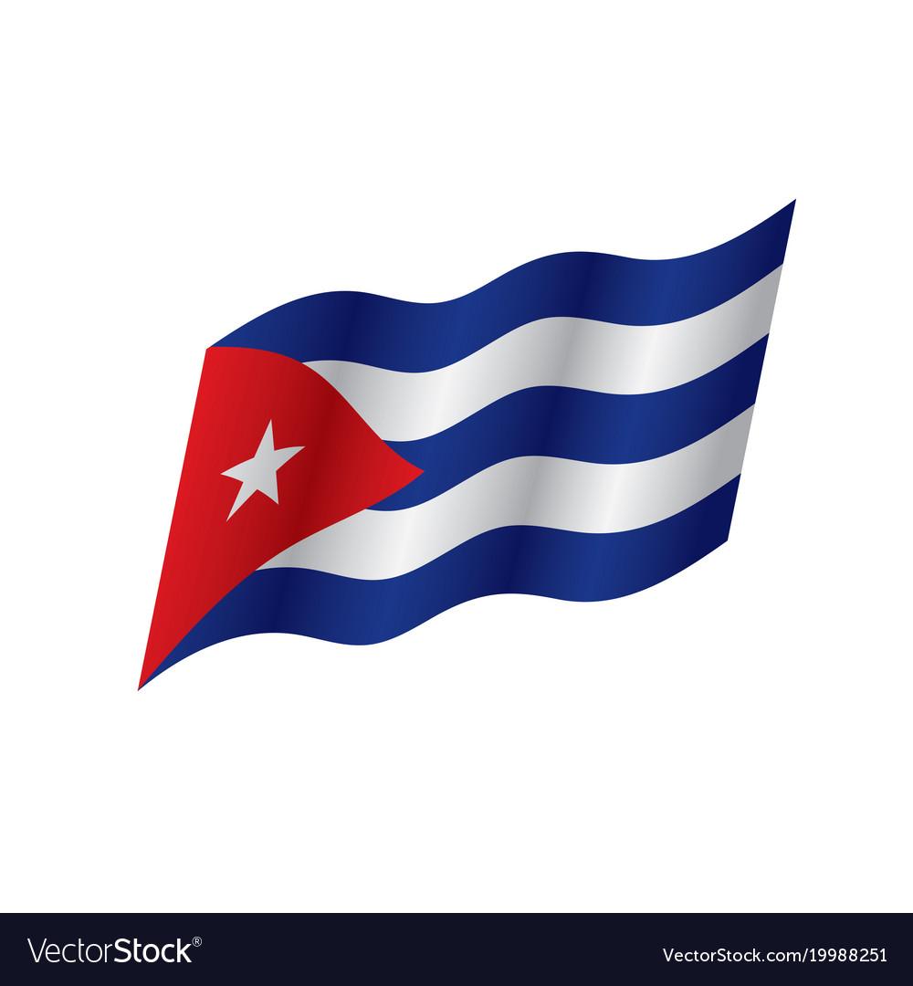 Wonderful Cuba Flag Vector Image