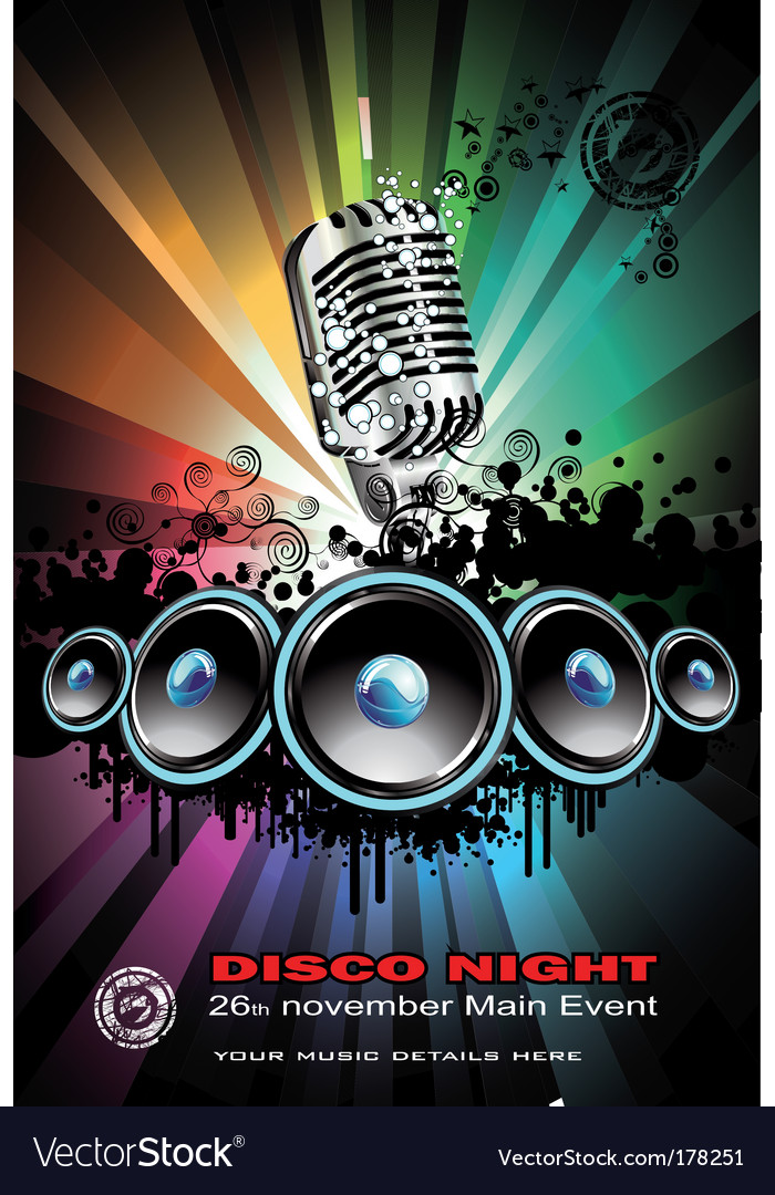 Disco dancing singer night background