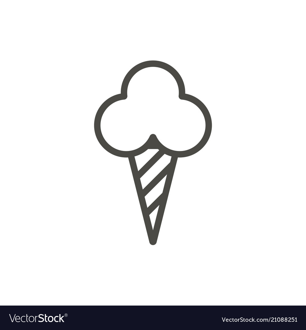 Ice cream cone icon line dessert symbol