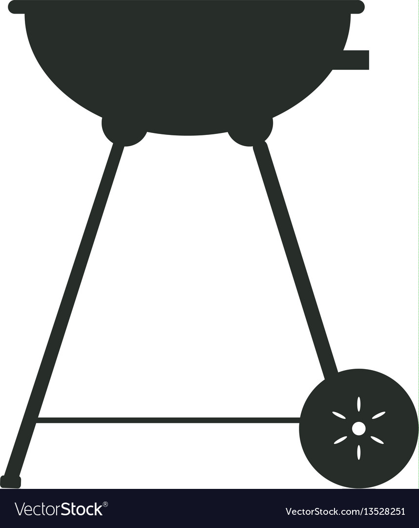 Isolated grill silhouette