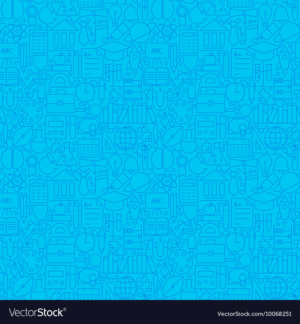 Line Science Education Blue Tile Pattern