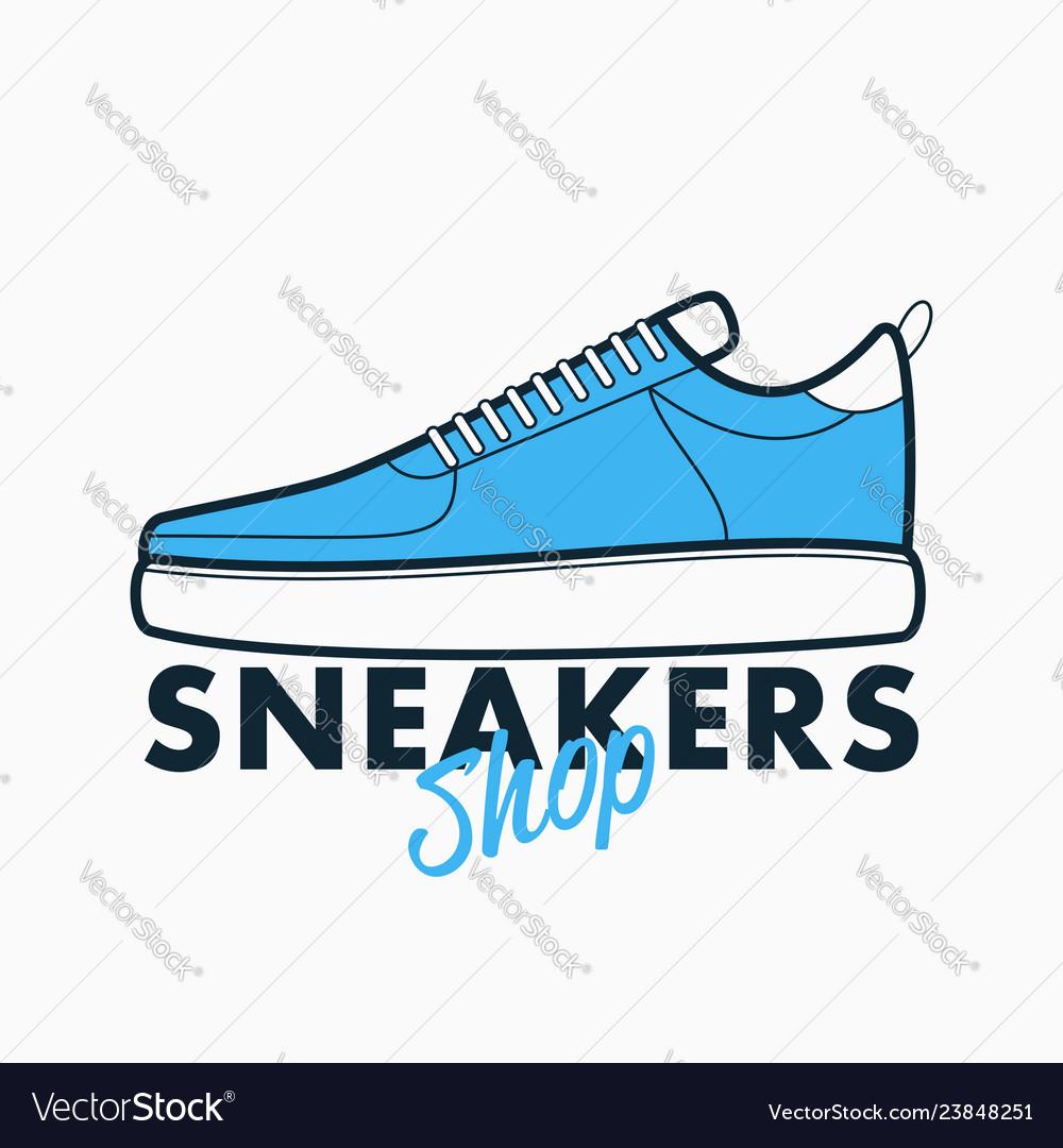 Sneakers shop logo sport shoes sign
