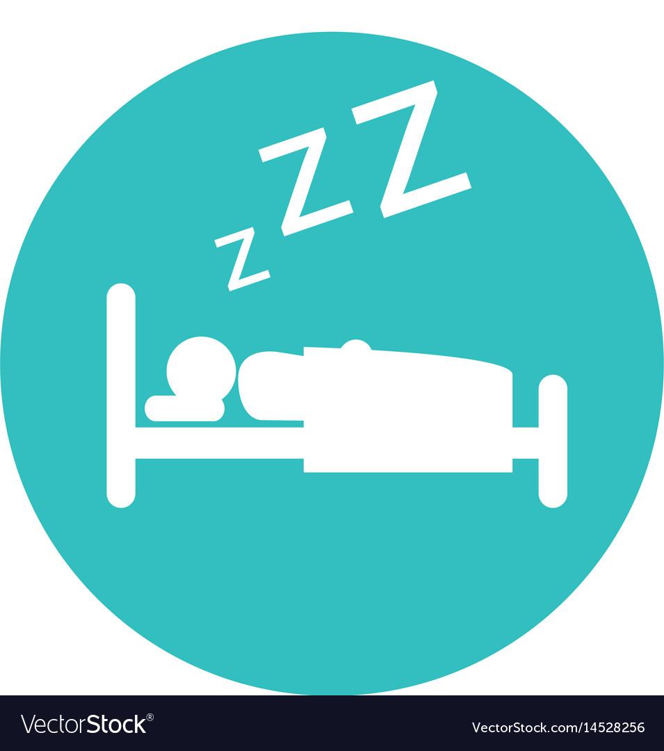Human asleep silhouette icon vector image
