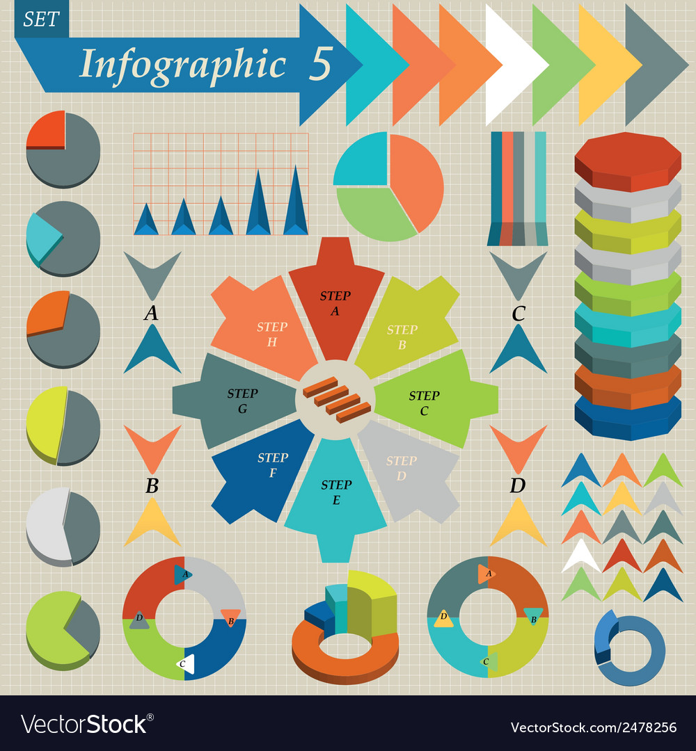 Infographics Elements Set For Business vector image