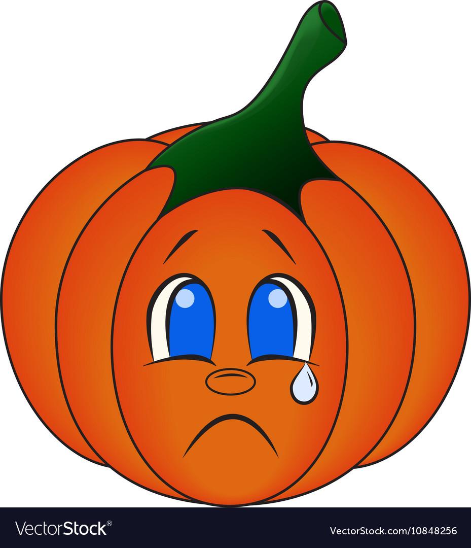 Kawaii pumpkin Cute cartoon vector image