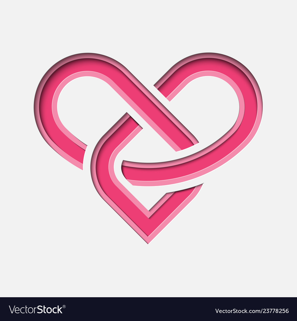 Lovinity - eternal love symbol with deep paper Vector Image