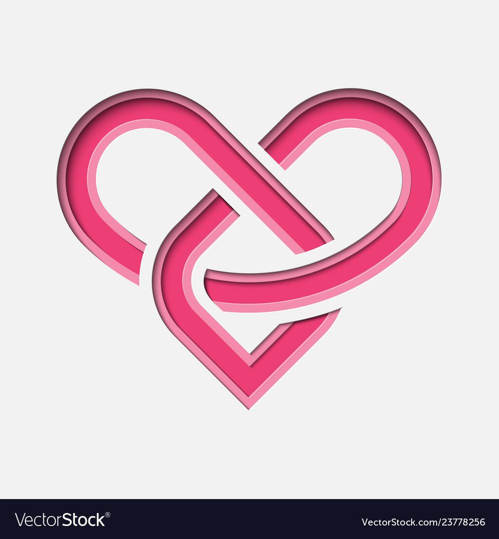 Lovinity - eternal love symbol with deep paper