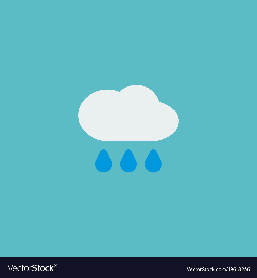 Rain icon flat element of