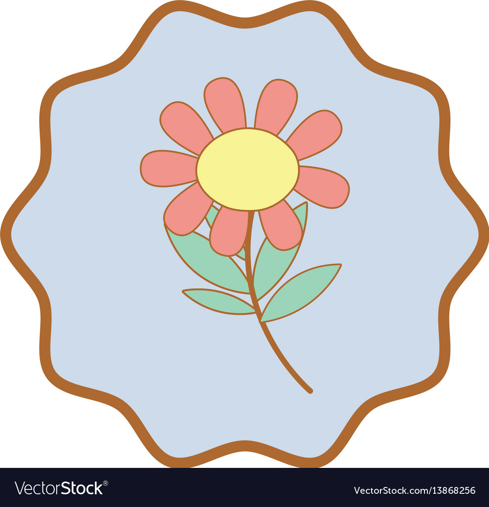 Symbol beauty flower plant with petals and leaves vector image izmirmasajfo