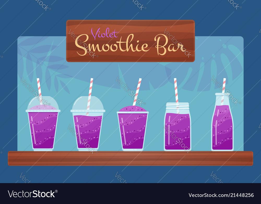 Violet natural vitamin smoothies set